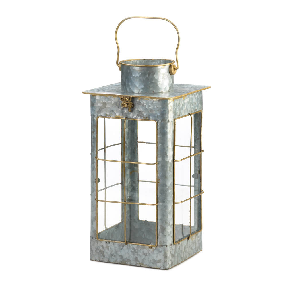 Gallery of Light Farmhouse Galvanized Lantern - 10018640