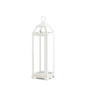Gallery of Light Large Country White Open Top Lantern - 10018646