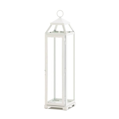Gallery of Light Tall Country White Open Top Lantern - 10018647