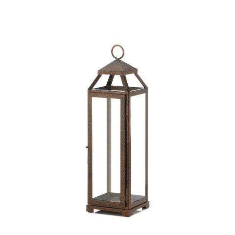 Gallery of Light Tall Copper Lantern - 10018651