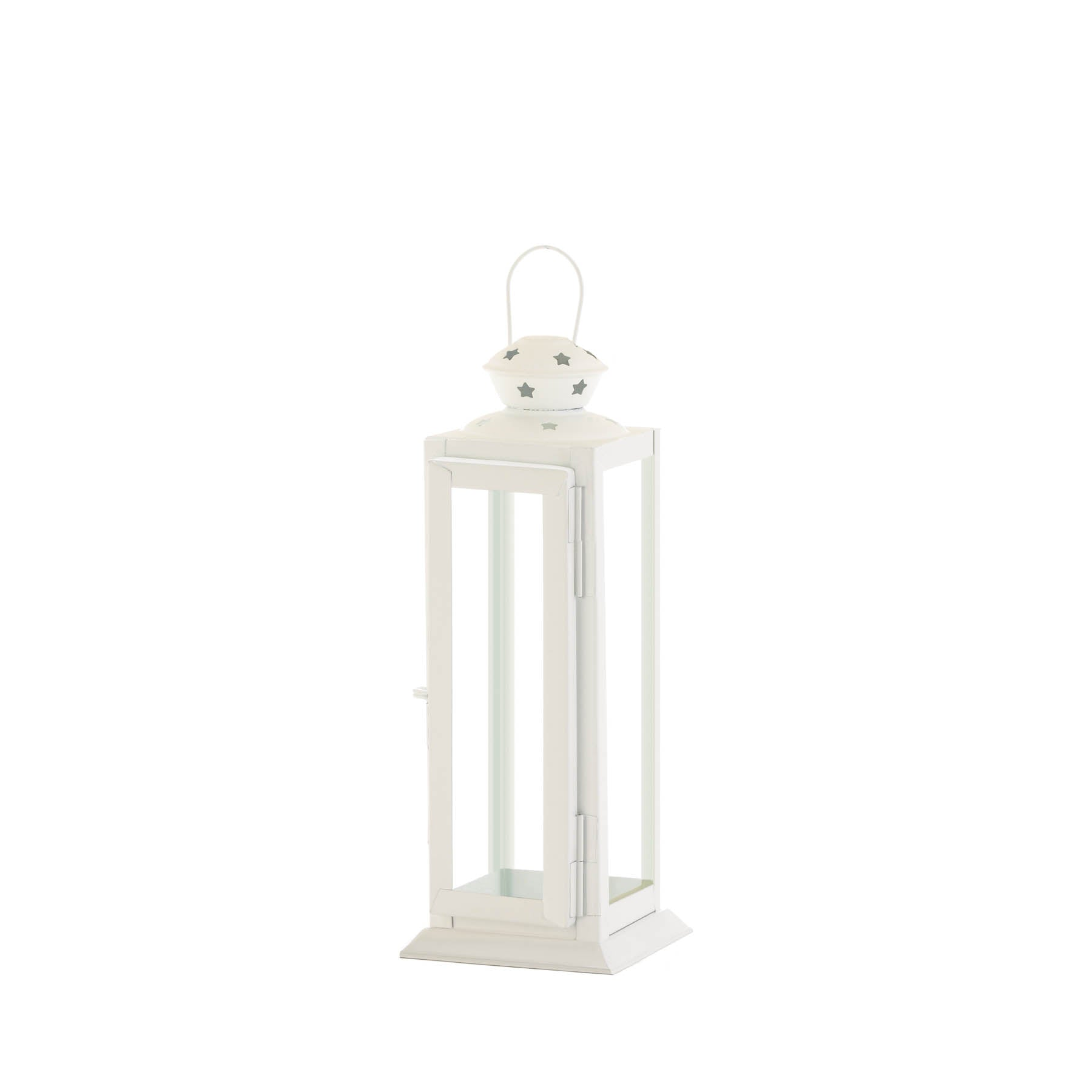 Gallery of Light Small Cutout Stars White Lantern - 10018657
