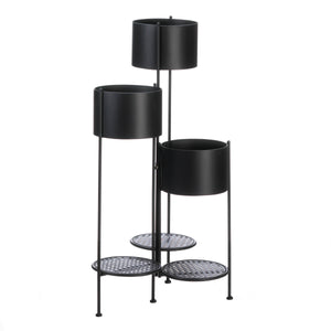 3-Tier Barrel Bucket Plant Stand