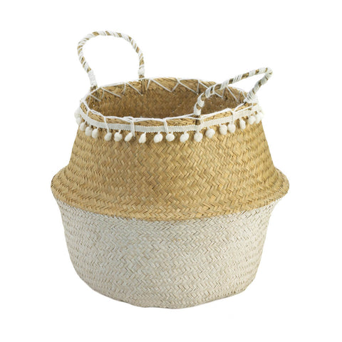 Accent Plus Seagrass Basket With Tassels - 10018727