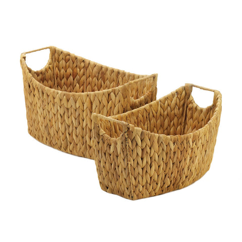 Accent Plus Natural Water Hyacinth Oblong Baskets - 10018728