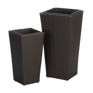 Summerfield Terrace Tuscany Wicker Tall Planters - 10018731