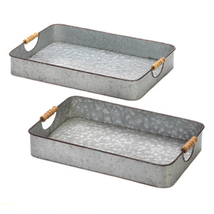 Accent Plus Galvanized Serving Trays - 10018736