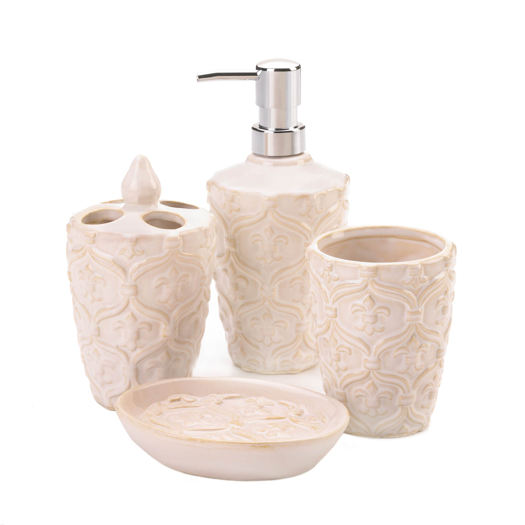 Accent Plus Fleur-De-Lis Bath Accessory Set - 10018748
