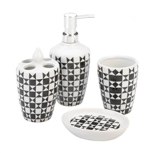 Accent Plus Geometric Pattern Bath Accessory Set - 10018750