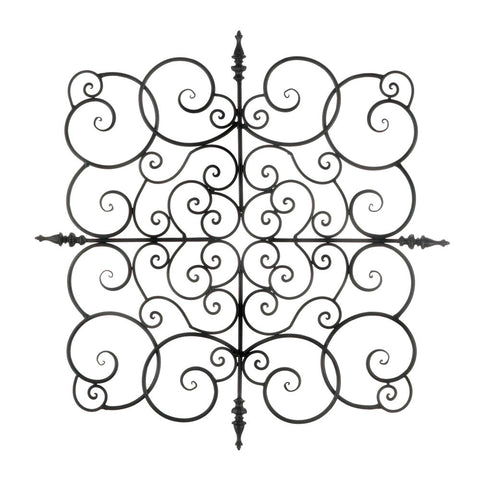 Accent Plus Square Fleur-De-Lis Wall Plaque - 10018758