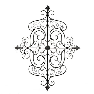 Accent Plus Fleur-De-Lis Scrollwork Wall Plaque - 10018759