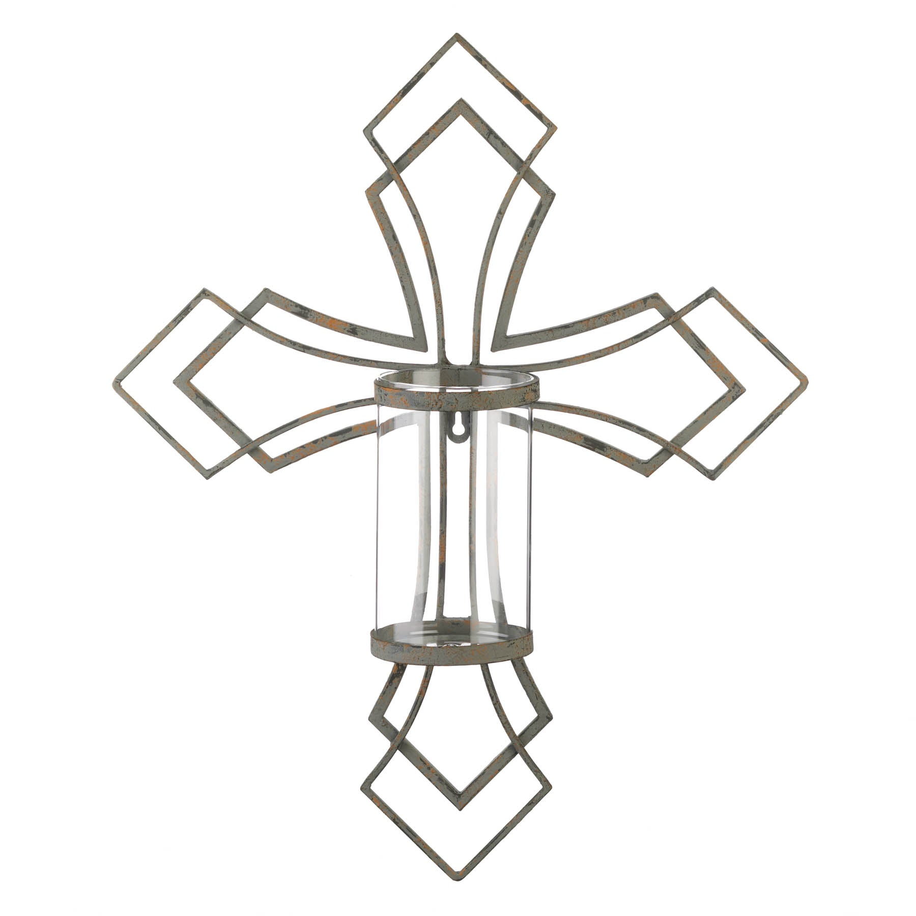Gallery of Light Contemporary Cross Candle Wall Sconce - 10018761