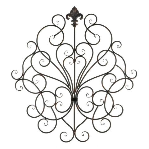 Accent Plus Fleur-De-Lis Scrollwork Wall Plaque - 10018765