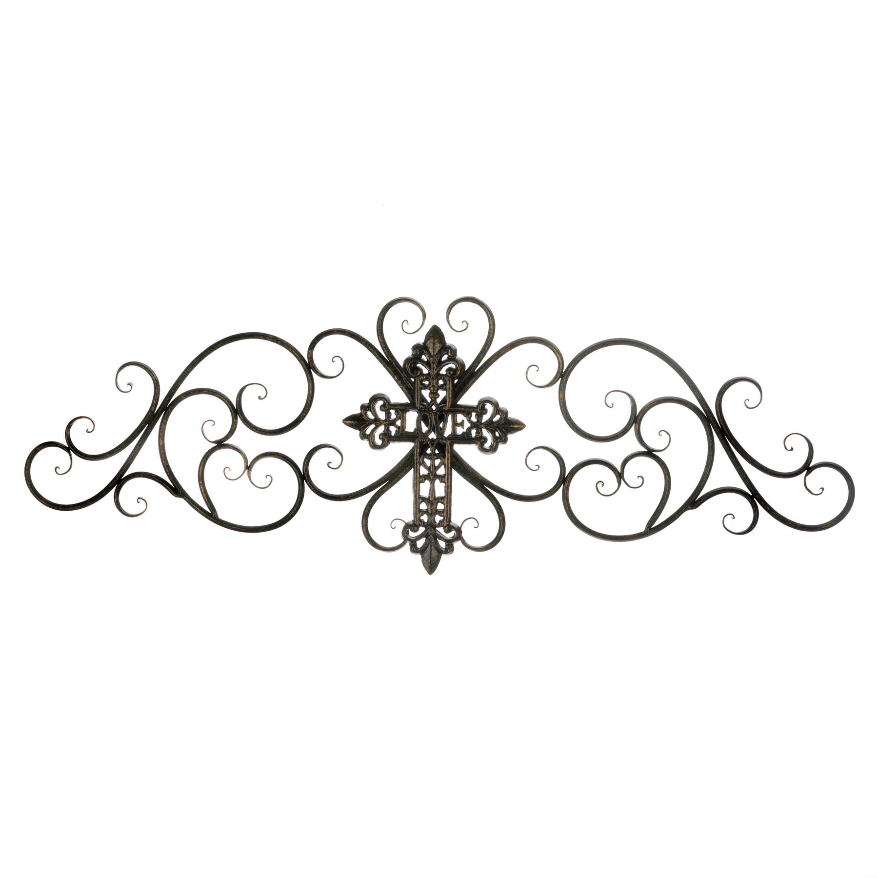 Accent Plus Cross Scrollwork Wall Plaque - 10018766