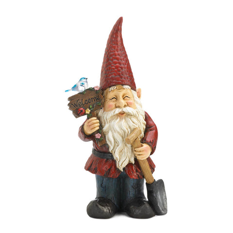 Summerfield Terrace Welcome Gnome Solar Garden Decoration - 10018773