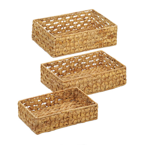 Accent Plus Wicker Basket Tray Set - 10018775