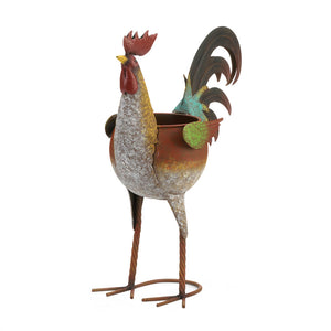 Summerfield Terrace Multi-Colored Rooster Planter - 10018789