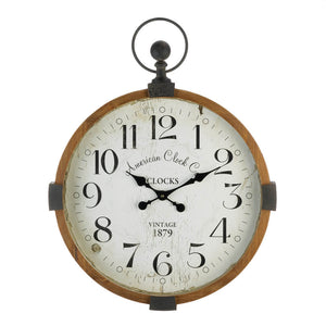 Accent Plus Vintage Industrial Wall Clock - 10018812