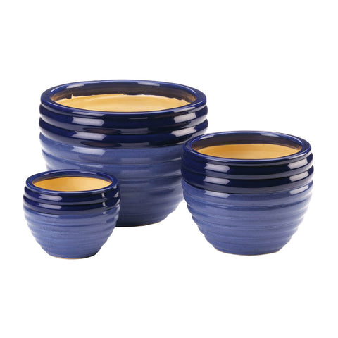 Summerfield Terrace Duo Blue Tone Planter Trio - 10018822