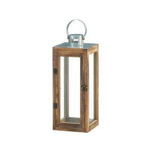 Gallery of Light Metal Top Square Wood Lantern - 10018831