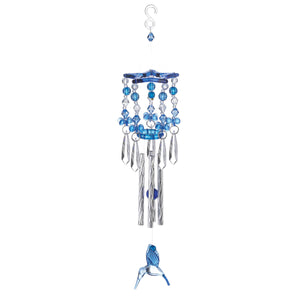Summerfield Terrace Blue Hummingbird Wind Chimes - 10018837