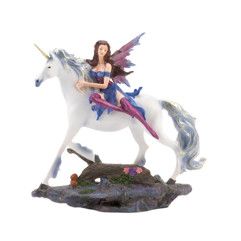 Dragon Crest Fairy And Unicorn Figurine - 10018838