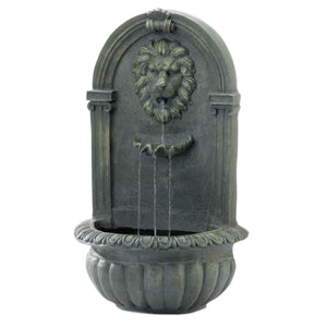 Cascading Fountains Mossy Green Lion Wall Fountain - 10018868