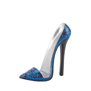 Accent Plus Sparkle Blue Shoe Phone Holder - 10018875