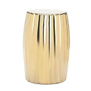 Accent Plus Gold Decorative Stool - 10018883