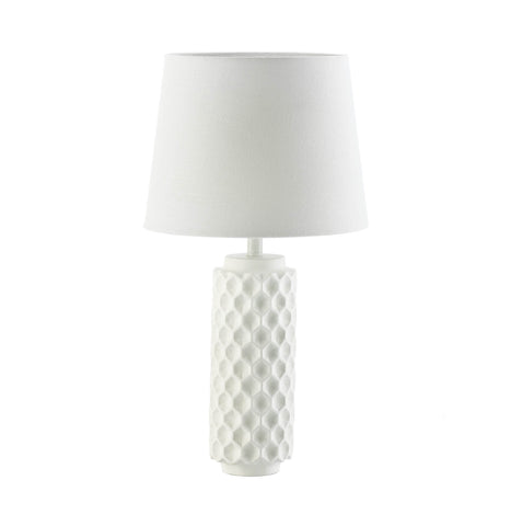 Gallery of Light White Honeycomb Table Lamp - 10018918