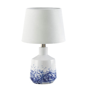 Gallery of Light White And Blue Splash Table Lamp - 10018919