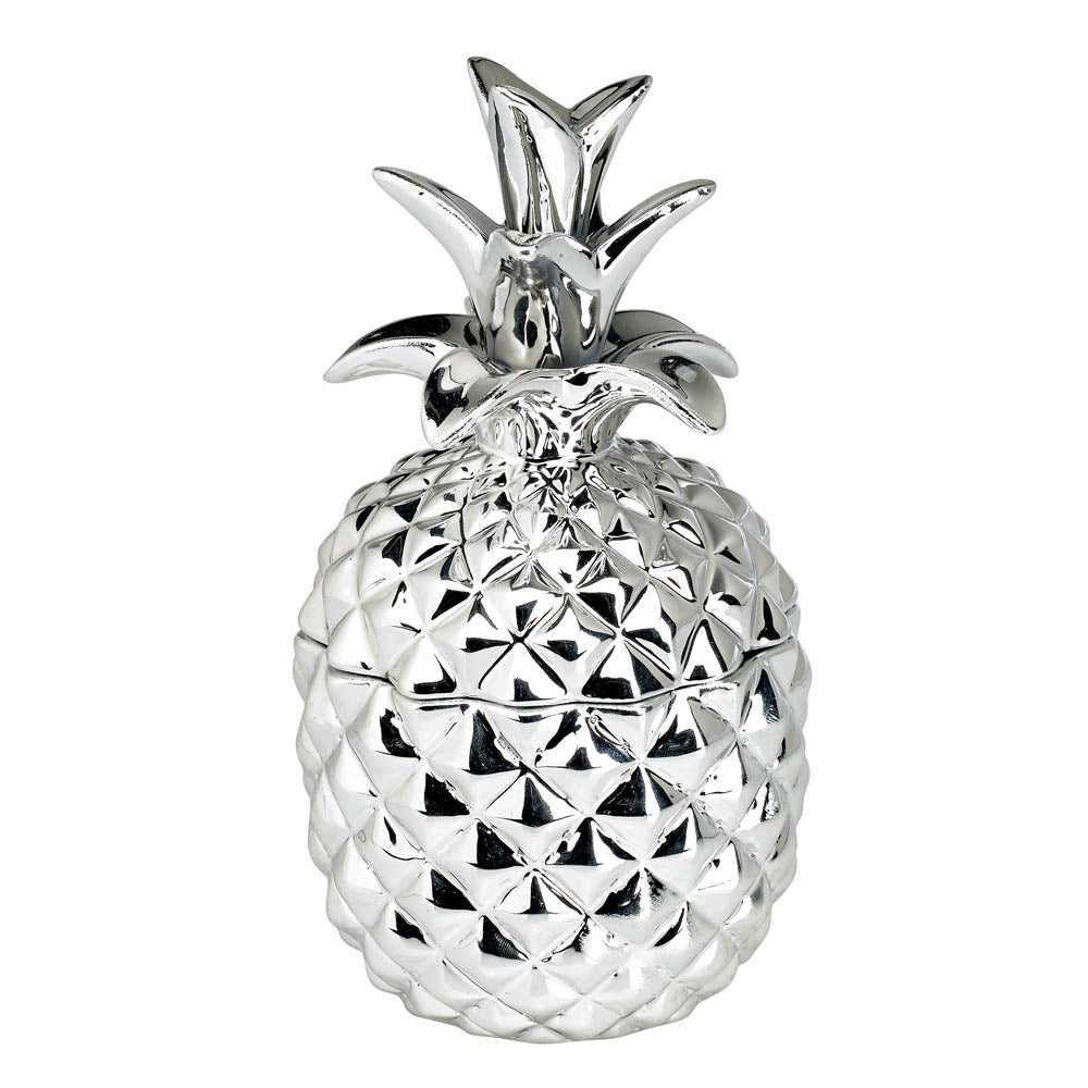 Koolekoo Silver Ceramic Pineapple Candle - 12010877