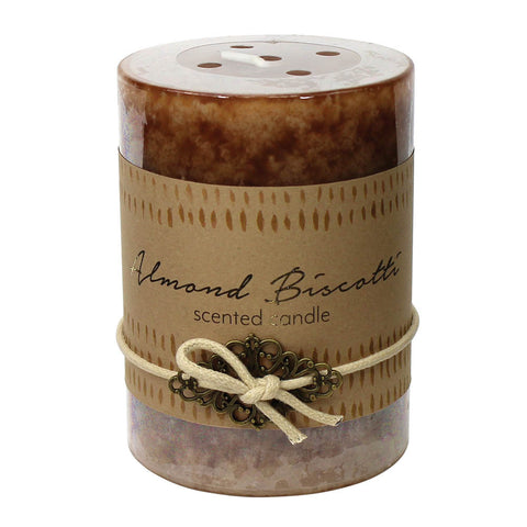 Koolekoo Almond Biscotti Pillar Candle 3X4 - 12010923