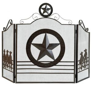 Accent Plus Lone Star Fireplace Screen - 12569