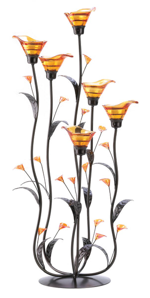 Gallery of Light Amber Calla Lily Candleholder - 12793