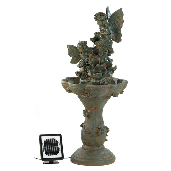 Cascading Fountains Fairy Solar Water Fountain - 12842