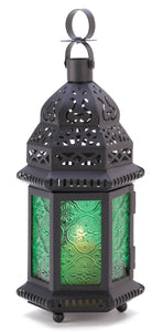 Gallery of Light Green Glass Moroccan Lantern - 13244