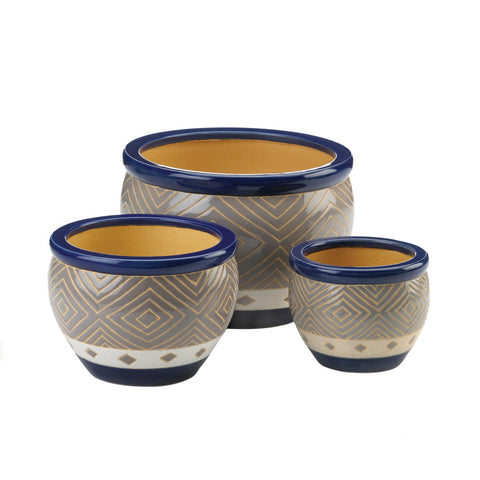 Summerfield Terrace Cobalt Planter Trio - 13368