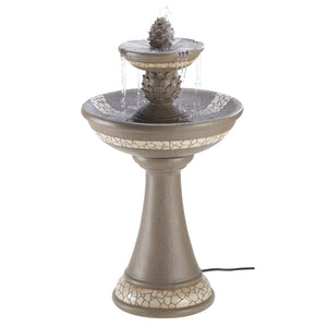 Cascading Fountains Mosaic Courtyard Fountain - 13807
