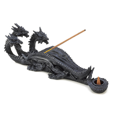 Dragon Crest Triple-Head Dragon Incense Burner - 13830
