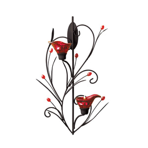 Gallery of Light Ruby Blossom Tealight Sconce - 13923