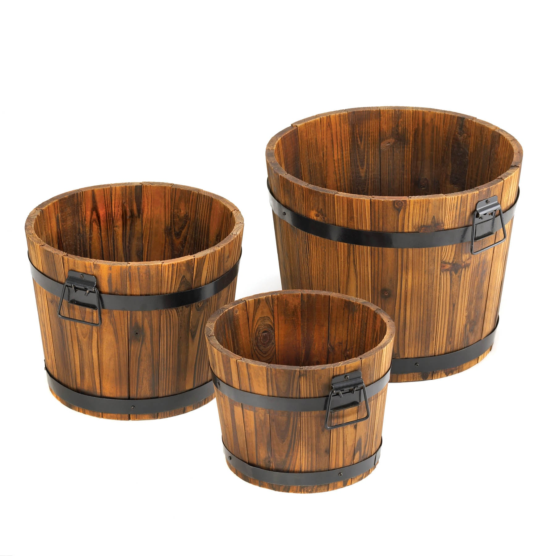 Summerfield Terrace Apple Barrel Planter Trio - 15114