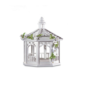 Songbird Valley White Gazebo Birdfeeder - 30209
