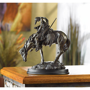 "Accent Plus ""The End Of The Trail"" Statue - 31044"