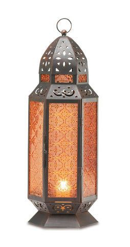 Gallery of Light Tall Moroccan-Style Candle Lantern - 34691