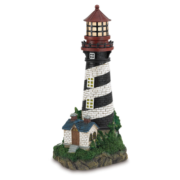 Summerfield Terrace Solar-Powered Lighthouse - 35719