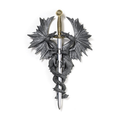 Dragon Crest Dragon Dagger Wall Plaque - 36247