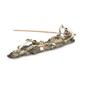 Dragon Crest Skeleton Incense Burner Holder - 37078