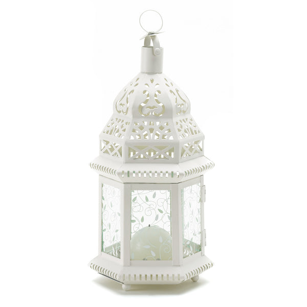 Gallery of Light White Moroccan Lantern - 38465