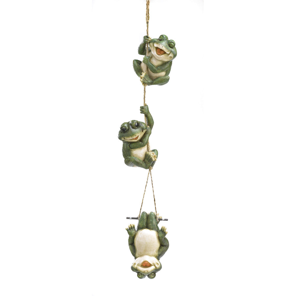 Summerfield Terrace Frolicking Frogs Hanging Decoration - 38813