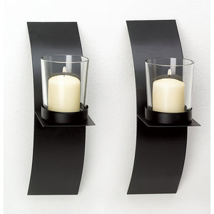 Gallery of Light Mod-Art Candle Sconce Duo - 39066